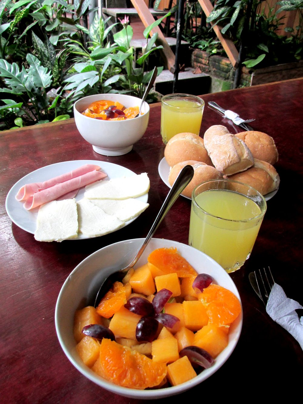 Breakfast at Casa Fitzcarraldo, Iquitos
