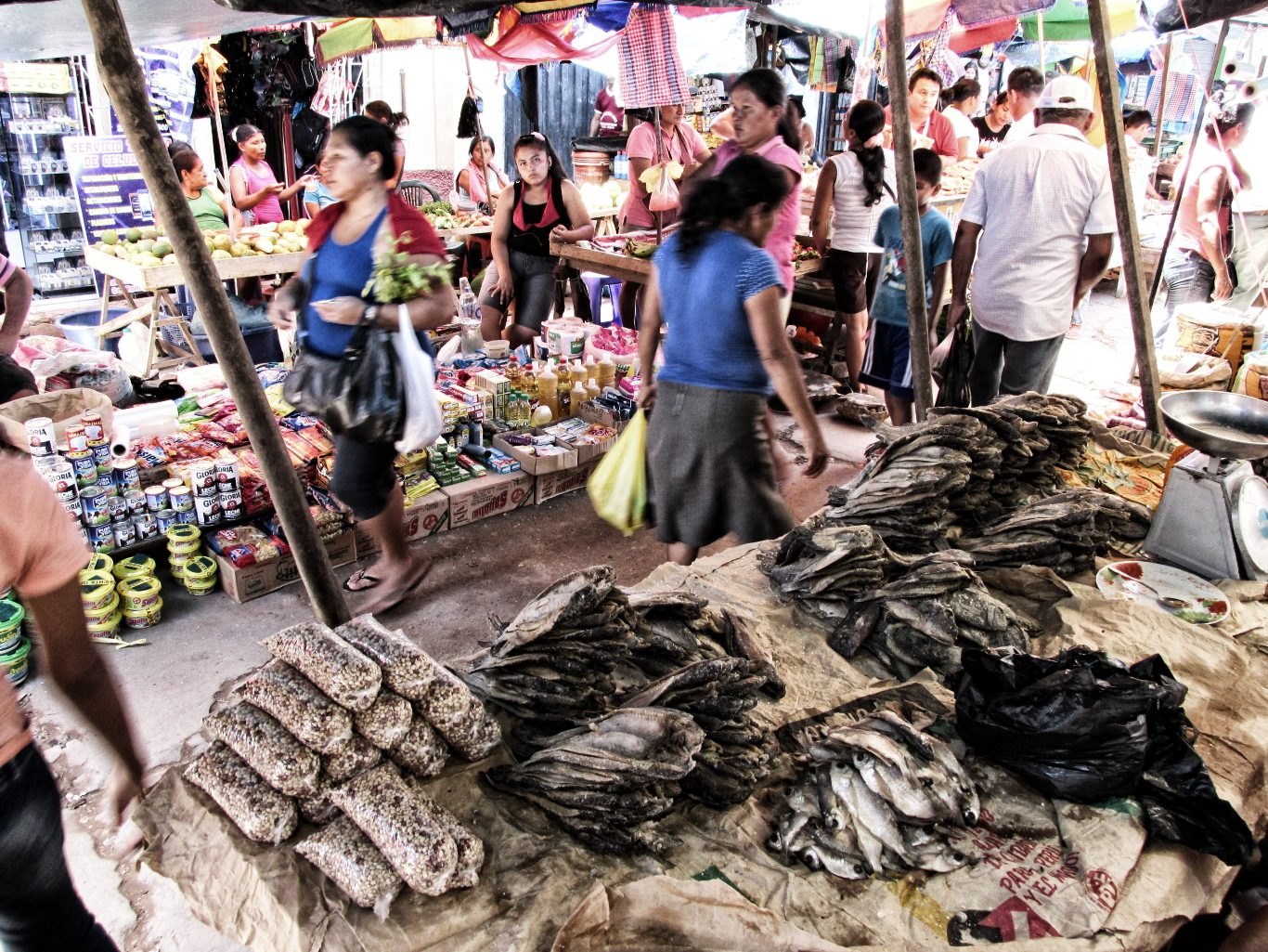 Salted and dried fish in Yurimaguas Market