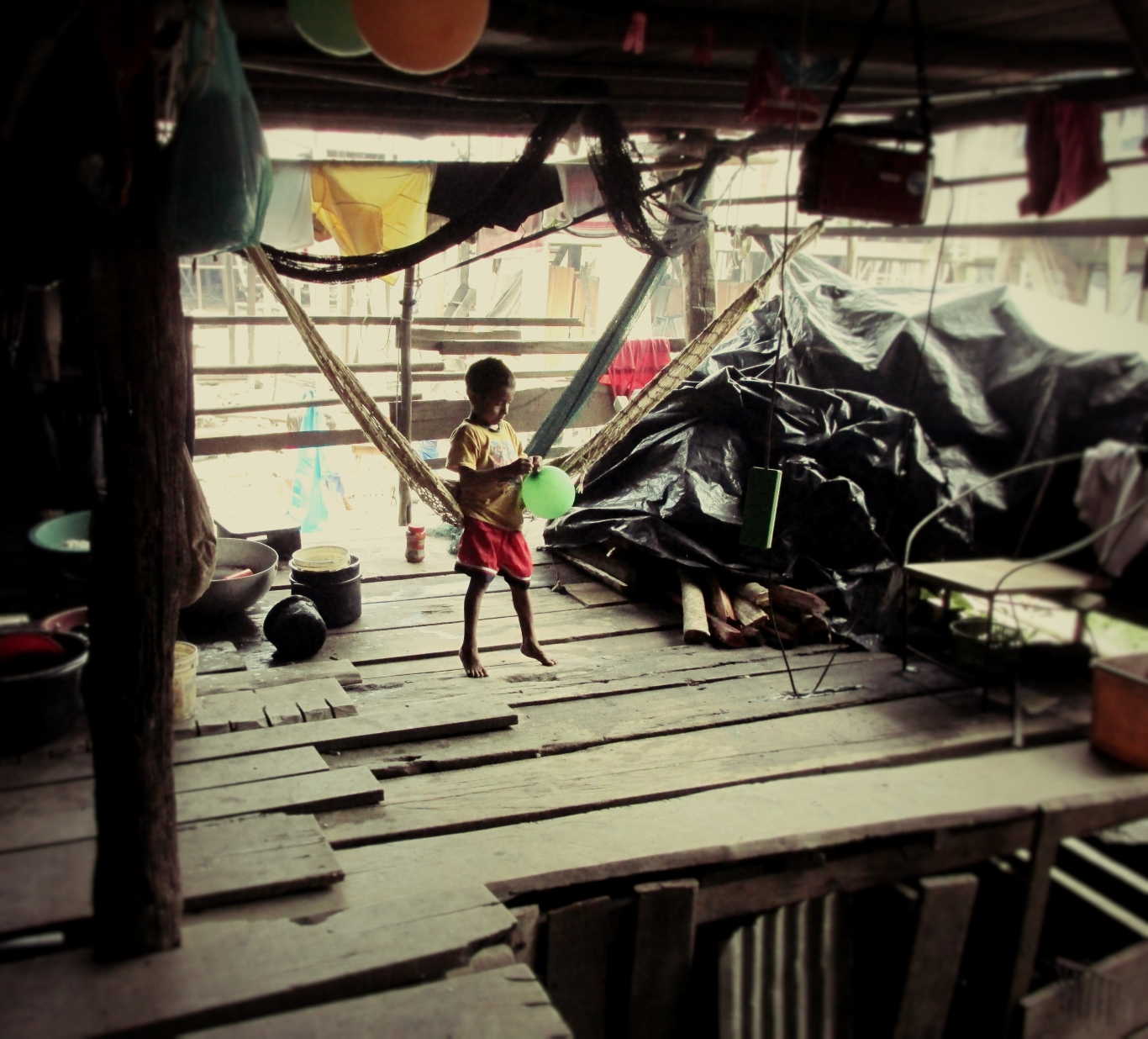 Boy in the Belen district of Iquitos