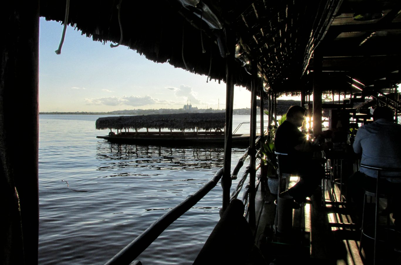 Iquitos travel guide, view from the floating restaurant